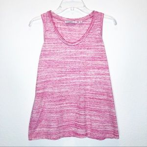ISSAC MIZRAHI LIVE! Burnout Knit Relaxed Tank Top